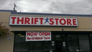 SA Restored thrift store sign