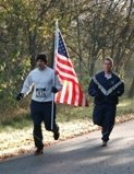 5k runner with flag