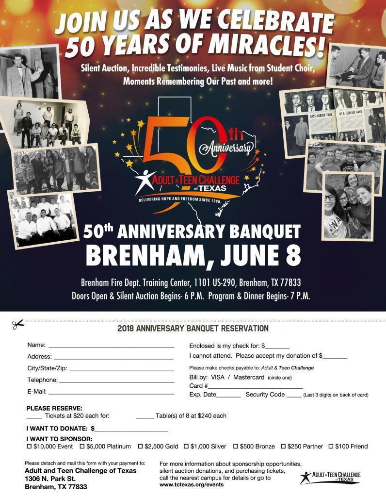 teen challenge 50th anniversary